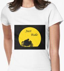 Just Ride Biker Women's Fitted T-Shirt