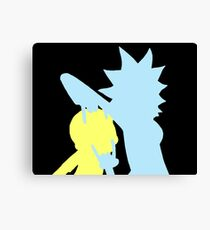 Rick and Morty Sticker Canvas Print