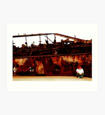 I still live by the wreck of us Art Print