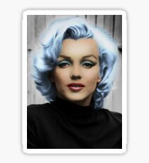 Idol Marylin Monroe (painting and contouring) Sticker