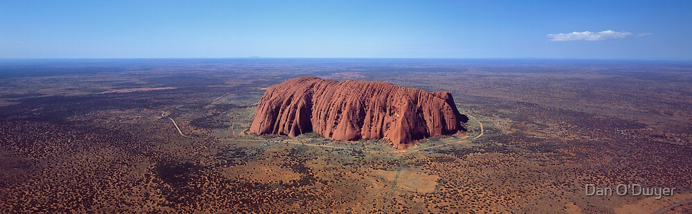 Uluru aerial by Dan O'Dwyer
