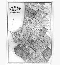 Vintage oakland map posters redbubble vintage map of oakland california 1878 bw poster publicscrutiny Image collections