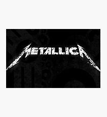 Metallica Logo Photographic Print