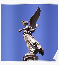 An angel,goddess of victory Poster