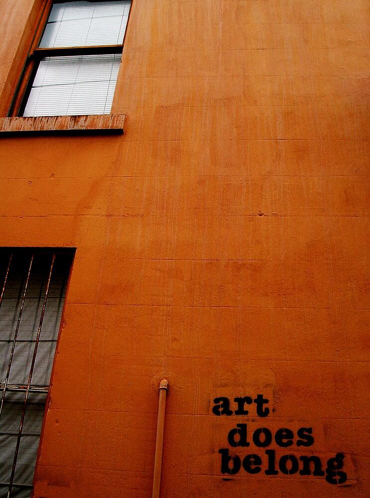 art does belong by littlepieces