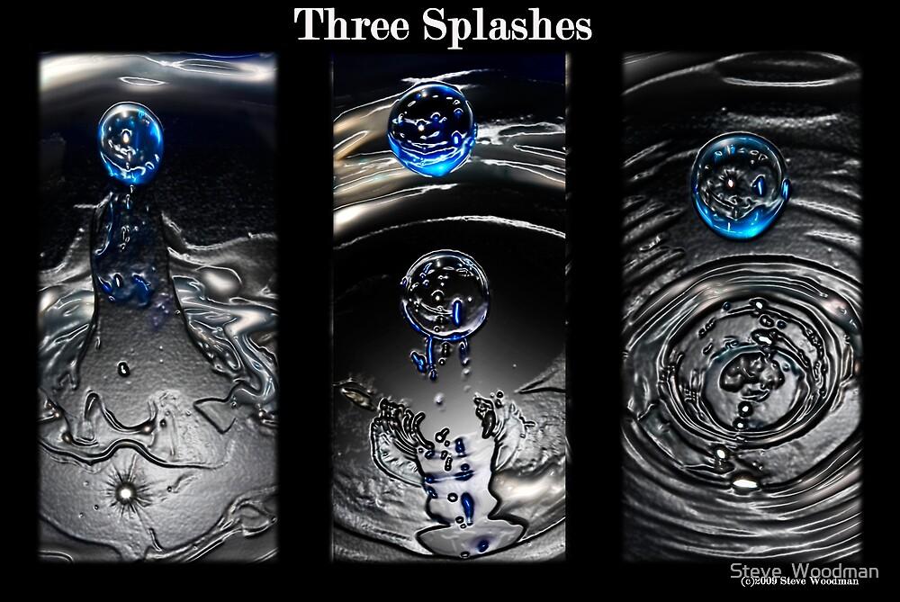 Three splashes by Steve  Woodman