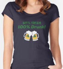50% IRISH 100% DRUNK St. Patrick's Day T Shirt Women's Fitted Scoop T-Shirt