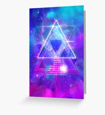 Space Vector 3 - Synth Galactic Vaporwave Greeting Card