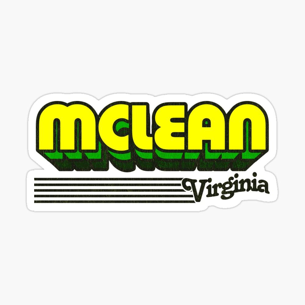 McLean, Virginia | Retro Stripes Sticker