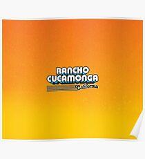 Rancho Cucamonga, California | Retro Stripes Poster