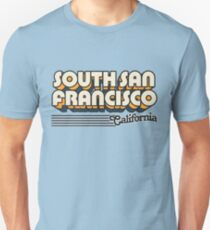 South San Francisco, California | Retro Stripes Unisex T-Shirt