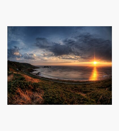 Sunset over Clonque Bay on Alderney Photographic Print