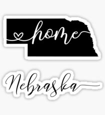 NEBRASKA, home Sticker