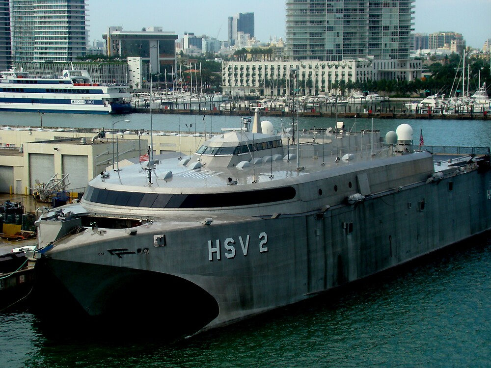 The Miami Pier: Proud vessel HSV  by Elizabeth Rodriguez