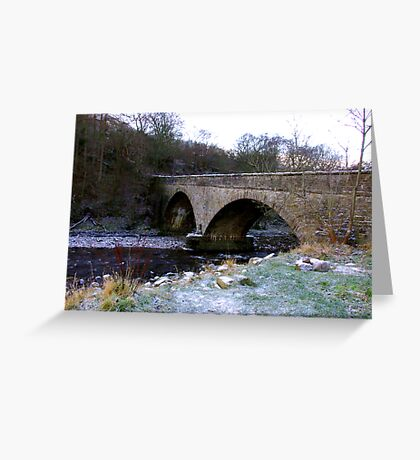 The Bridge at Gunnerside North Yorkshire Greeting Card