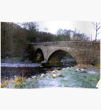 The Bridge at Gunnerside North Yorkshire Poster