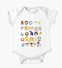 Child of the 80s Alphabet One Piece - Short Sleeve