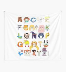 Child of the 80s Alphabet Wall Tapestry