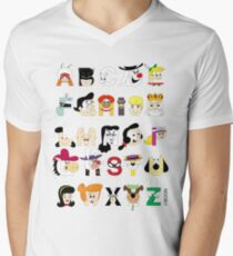 Child of the 60s Alphabet Mens V-Neck T-Shirt