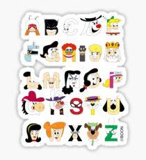 Child of the 60s Alphabet Sticker