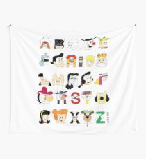 Child of the 60s Alphabet Wall Tapestry