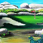 A Round Of Golf by WhiteDove Studio kj gordon