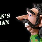 Man's Man- © Clay Cartoons by TheClayman.com / Paul Moldovanos by theclayman