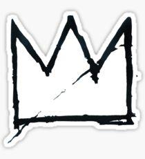 Black Basquiat Crown Sticker