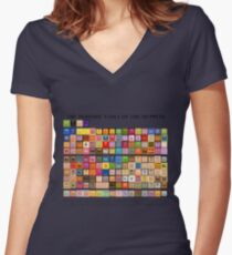 Periodic Table of the Muppets Women's Fitted V-Neck T-Shirt