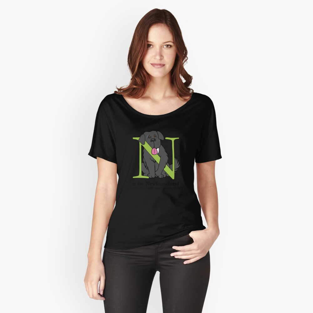 N is for Newfoundland Women's Relaxed Fit T-Shirt Front