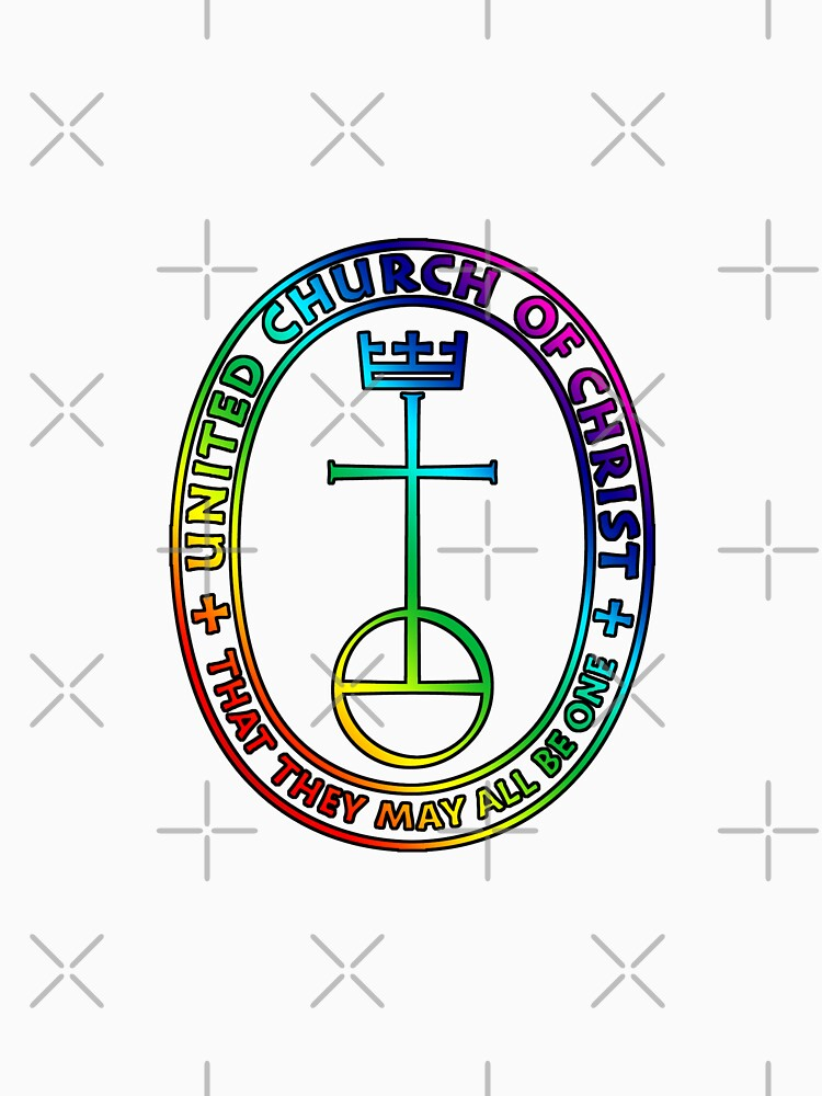 The UCC United Church of Christ Logo Rainbow 1 T shirt