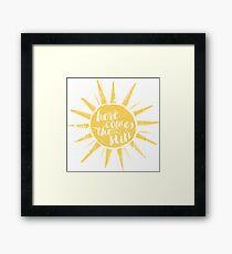 Hier kommt die Sonne Gerahmtes Wandbild