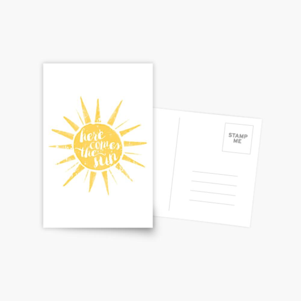 Aquí viene el sol Postal