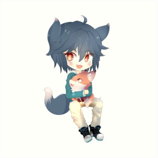 Chibi Fox By Sky Neko