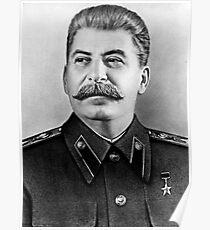 Stalin photo portrait Poster