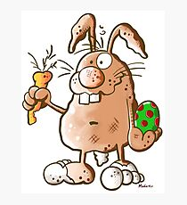 Cute Easter Bunny Cartoon Photographic Print