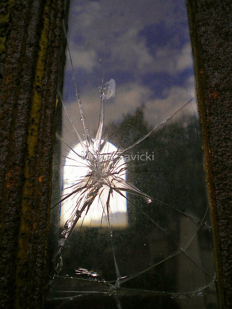 Broken Rusty Window by Mojca Savicki