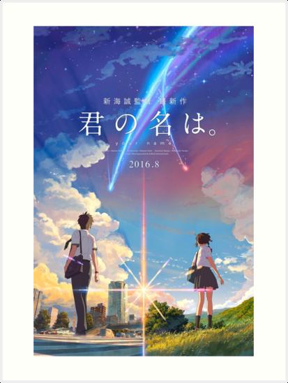 Kimi No Na Wa Your Name Anime Movie Poster Best Res Art Prints