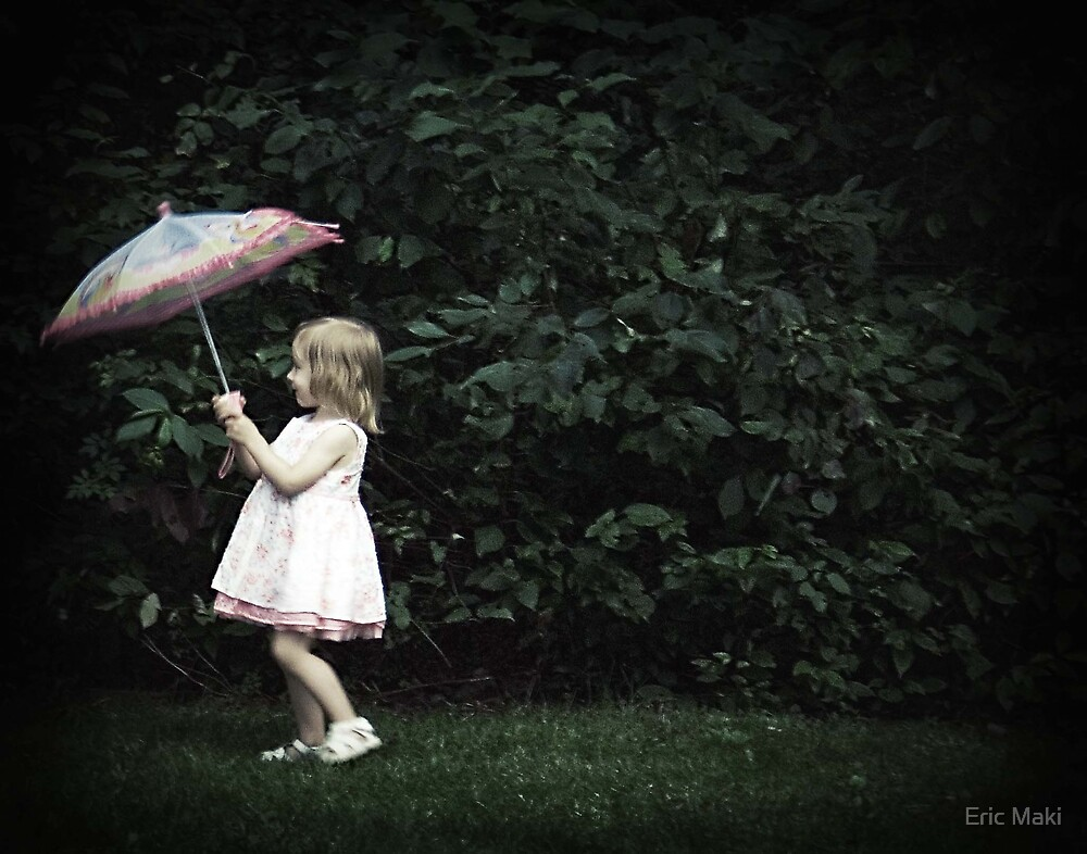 Caitlin with parasol  by Eric Maki