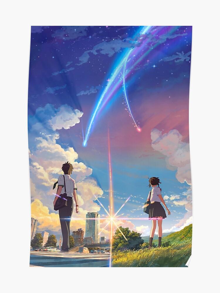 Weathering With You Poster Makoto Shinkai Movie Japanese Film Silk Canvas Print Art Art Posters Ihslyrics Com