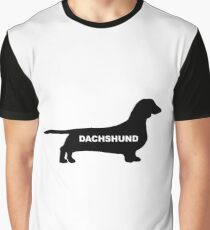 dachshund name silhouette Graphic T-Shirt