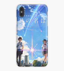 kimi no na wa // your name poster with text BEST RES iPhone XS Max Case