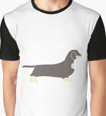 dachshund blue and cream silhouette Graphic T-Shirt