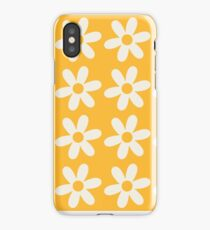 Two-Tone Daisy Pattern iPhone Case