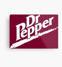 Dr Pepper 90s Maroon Background Metal Print