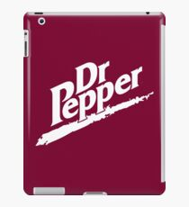 Dr Pepper 90s Maroon Background iPad Case/Skin