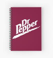 Dr Pepper 90s Maroon Background Spiral Notebook
