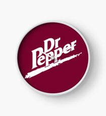 Dr Pepper 90s Maroon Background Clock