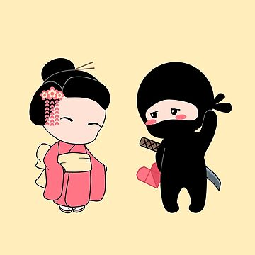 Tiny Ninja and Geisha by chibibikun
