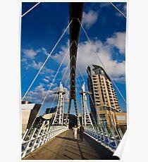Millenium Bridge, Salford Quays Poster
